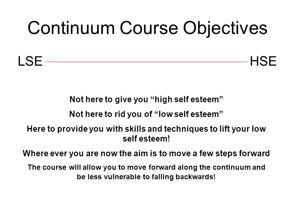 Continuum Course Objectives