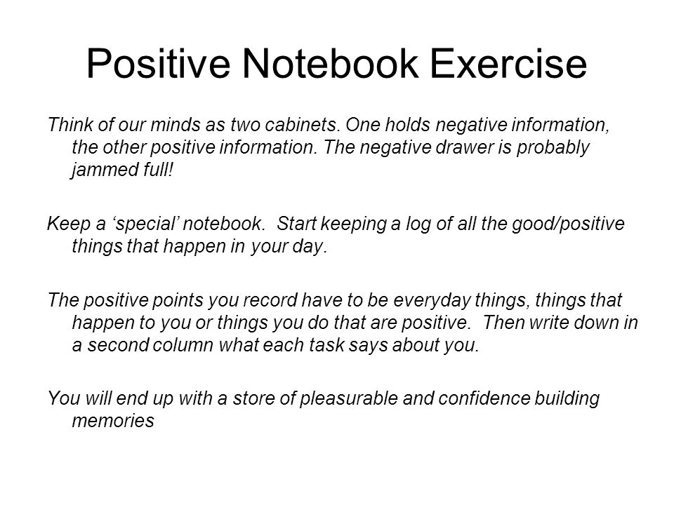 Positive Notebook Exercise