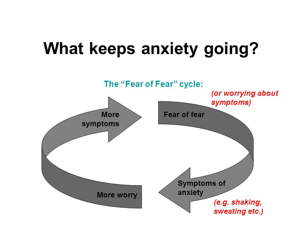 What keeps anxiety going