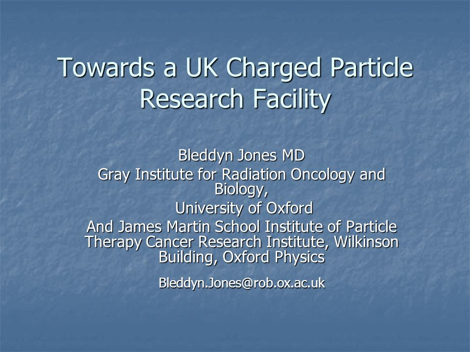 Towards a UK Charged Particle Research Facility