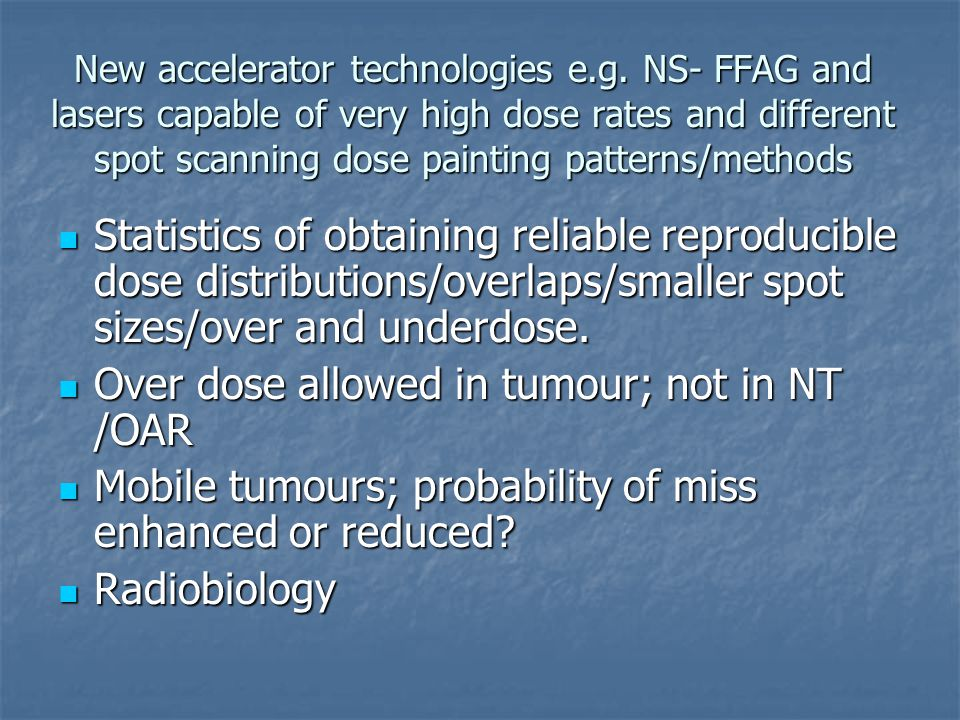 Over dose allowed in tumour; not in NT /OAR
