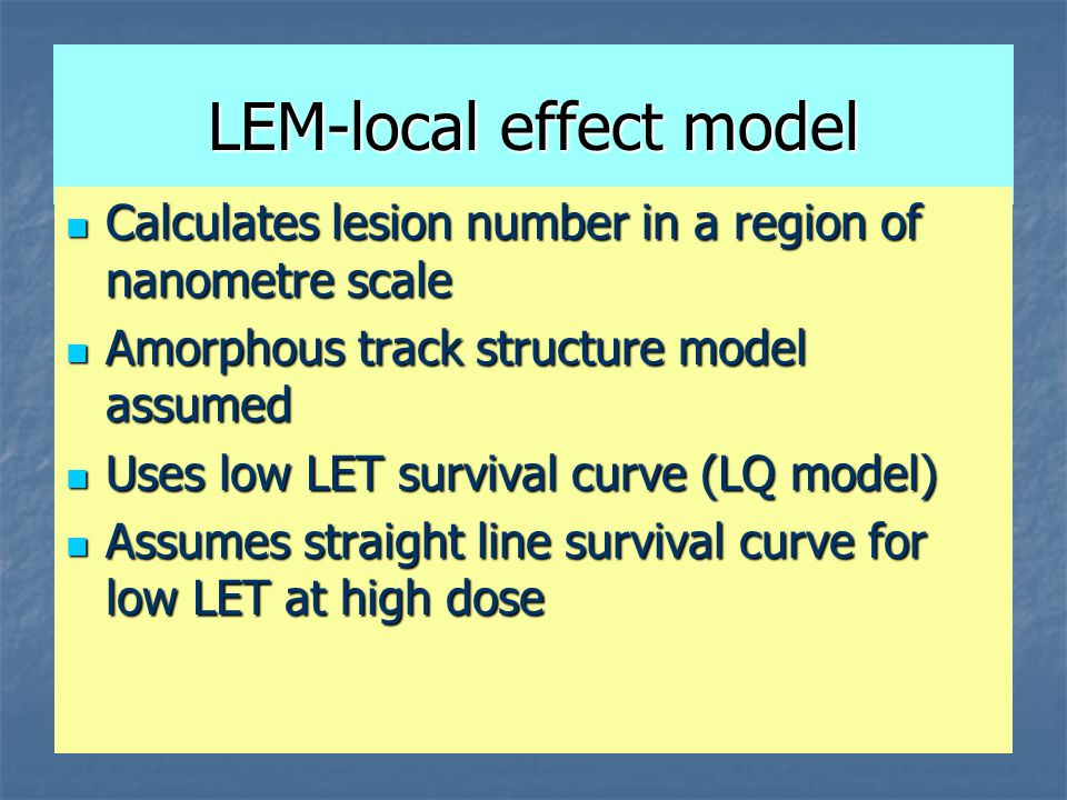 LEM-local effect model