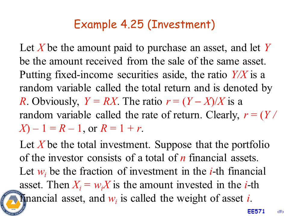 Example 4.25 (Investment)