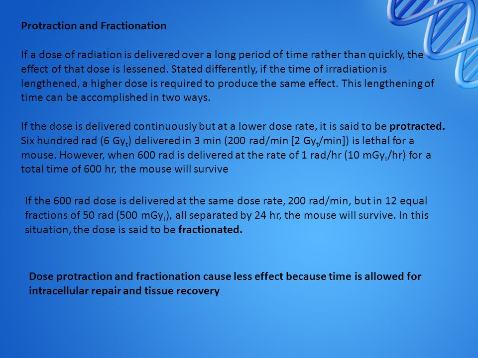 Protraction and Fractionation
