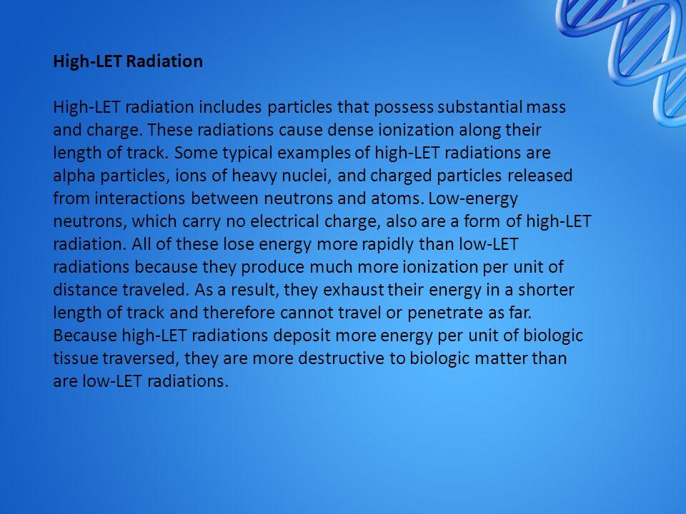 High-LET Radiation