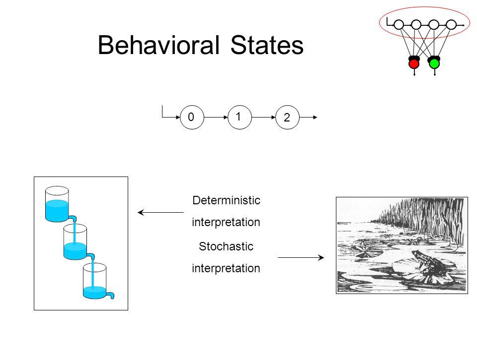 Behavioral States 1 2 Deterministic interpretation Stochastic