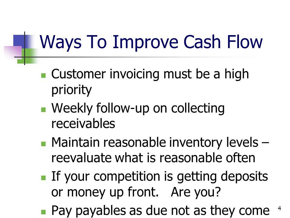 Ways To Improve Cash Flow