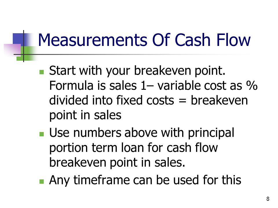 Measurements Of Cash Flow