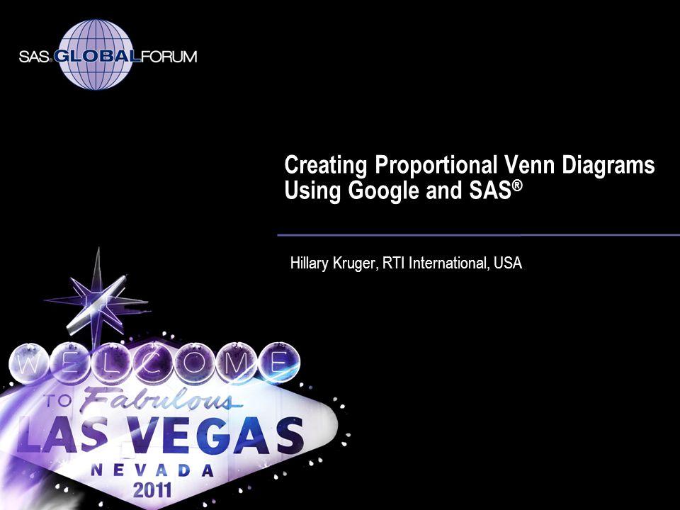 Creating Proportional Venn Diagrams Using Google and SAS®