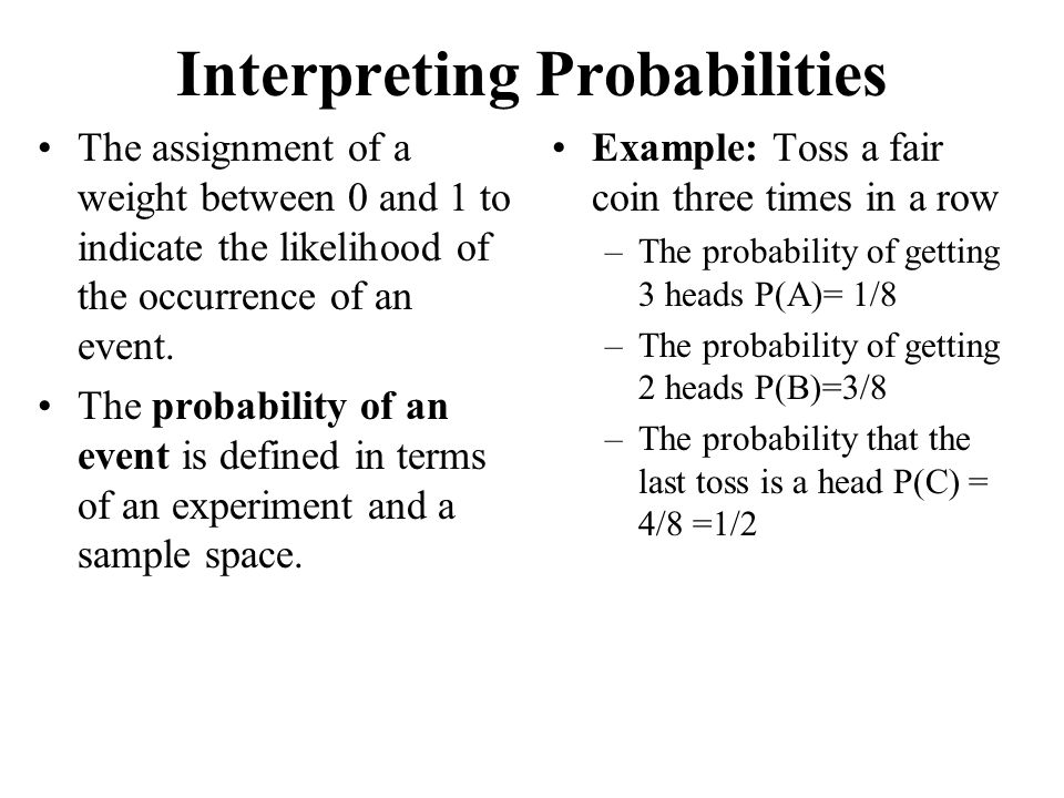 Interpreting Probabilities