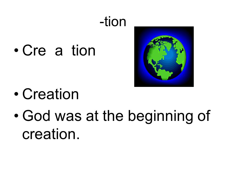 God was at the beginning of creation.