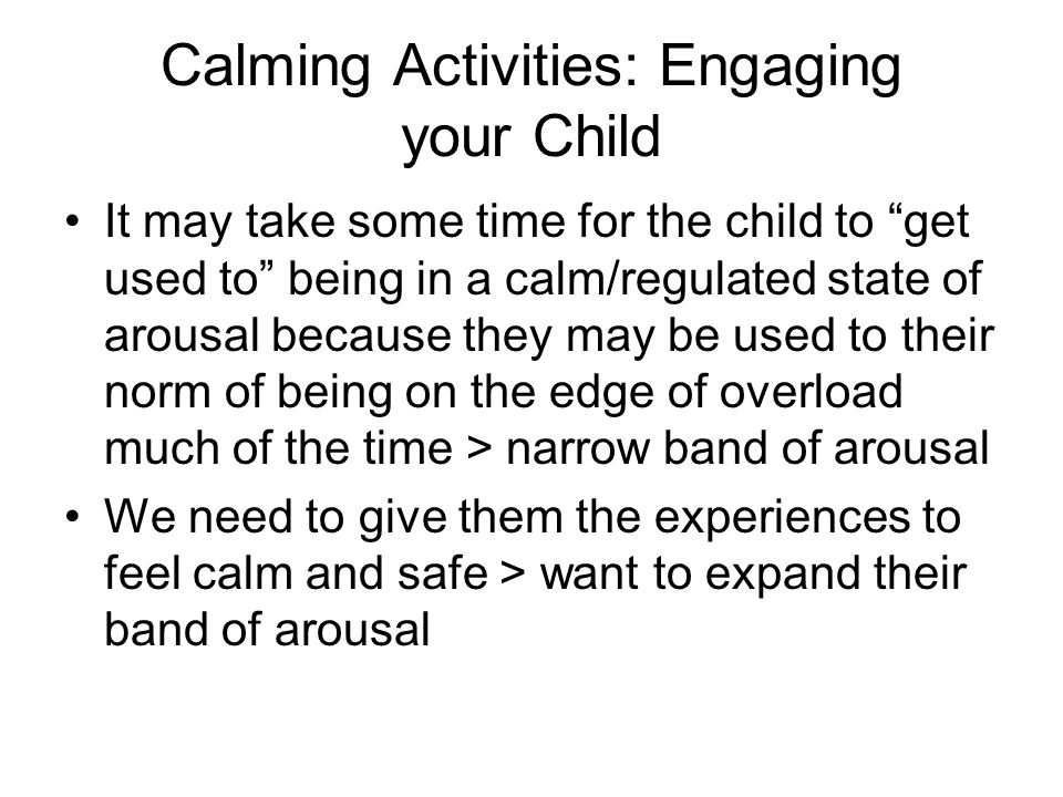 Calming Activities: Engaging your Child