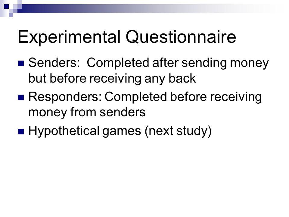 Experimental Questionnaire