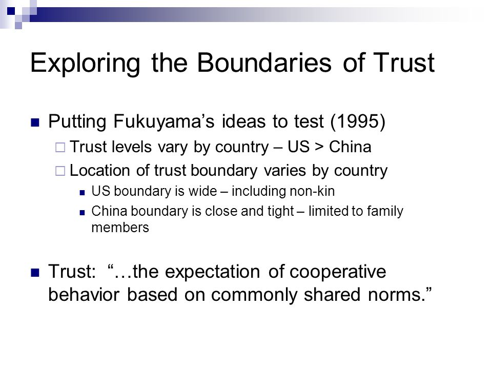 Exploring the Boundaries of Trust