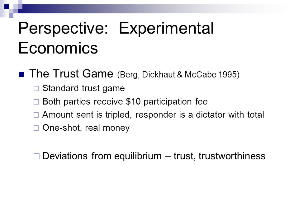 Perspective: Experimental Economics