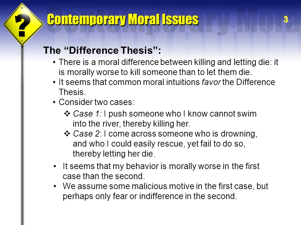 The Difference Thesis :