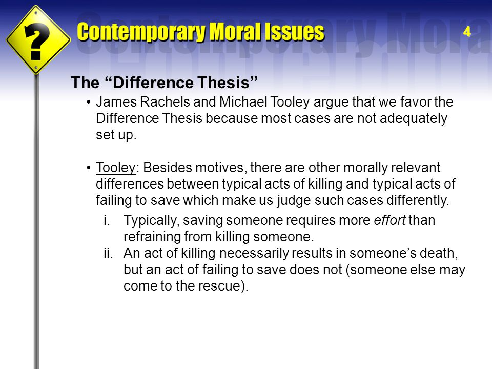 The Difference Thesis