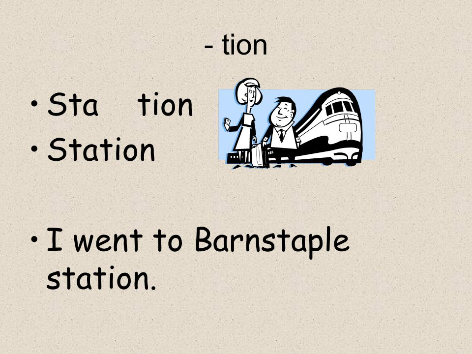 I went to Barnstaple station.