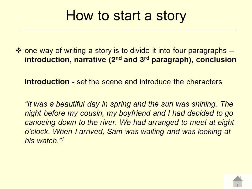 How to start a desciptive essay