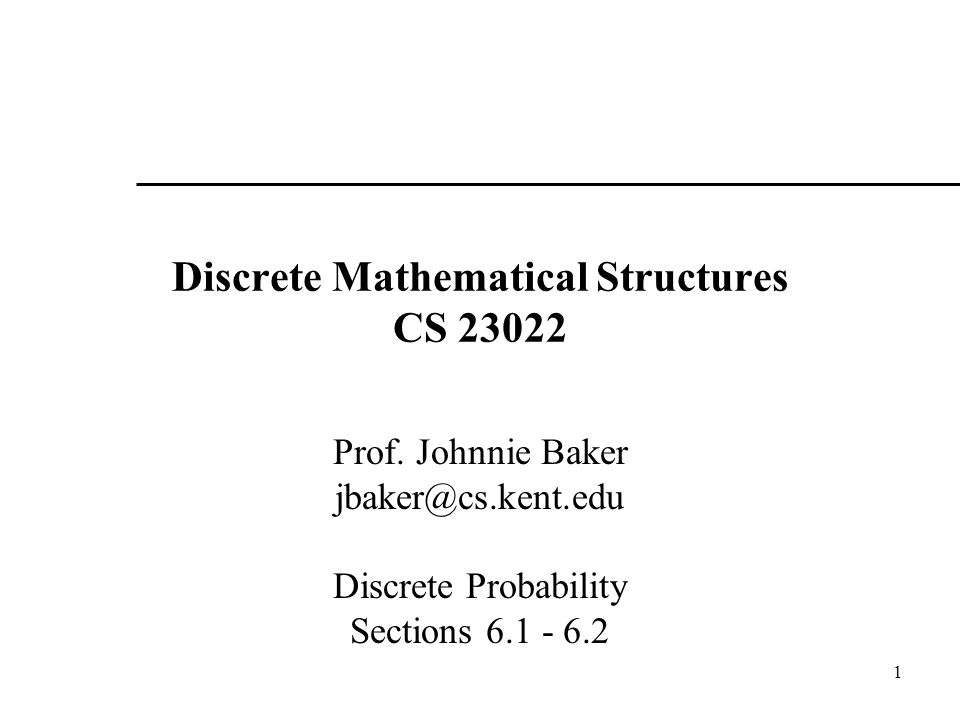 Discrete Mathematical Structures CS 23022