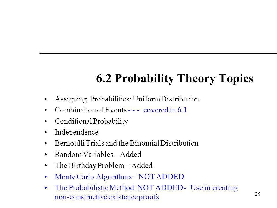 6.2 Probability Theory Topics