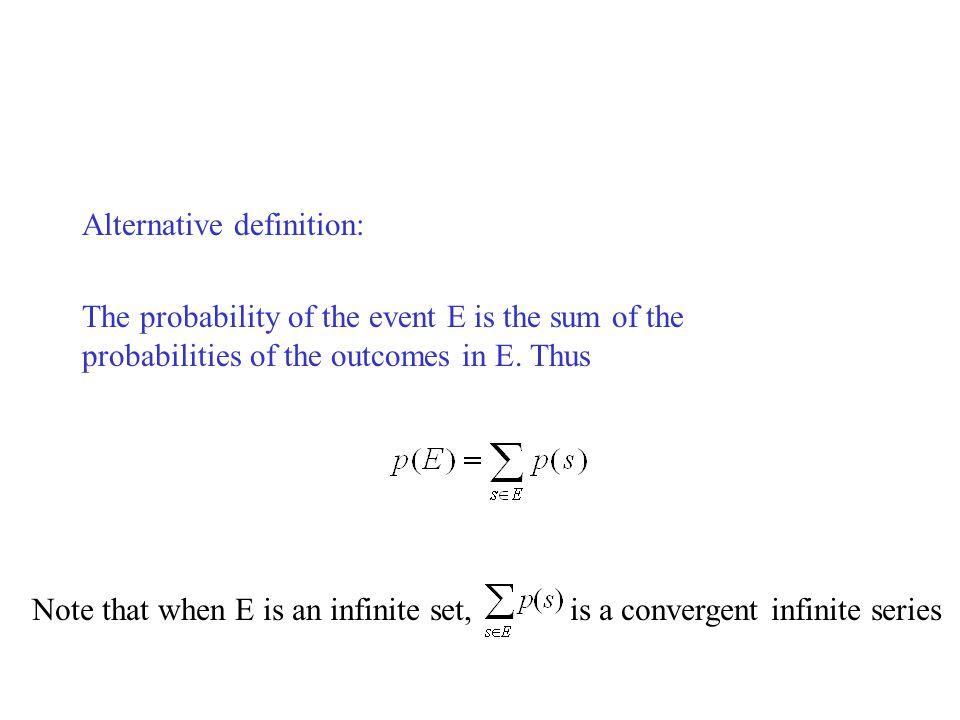 Alternative definition: