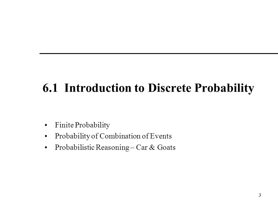 6.1 Introduction to Discrete Probability