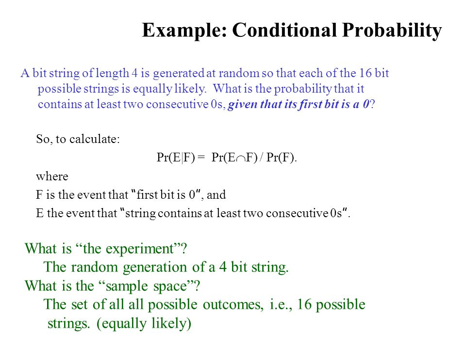 Example: Conditional Probability