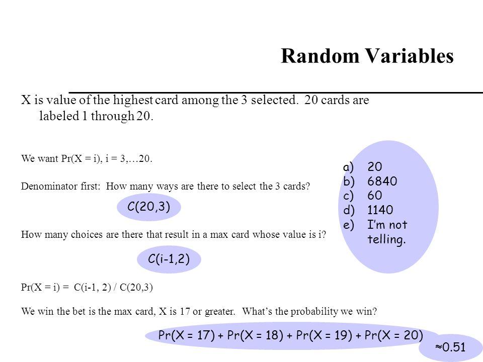 Pr(X = 17) + Pr(X = 18) + Pr(X = 19) + Pr(X = 20)