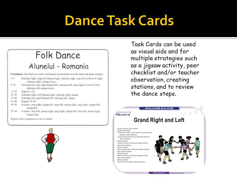 Dance Task Cards Sample Folk Dance Rubric