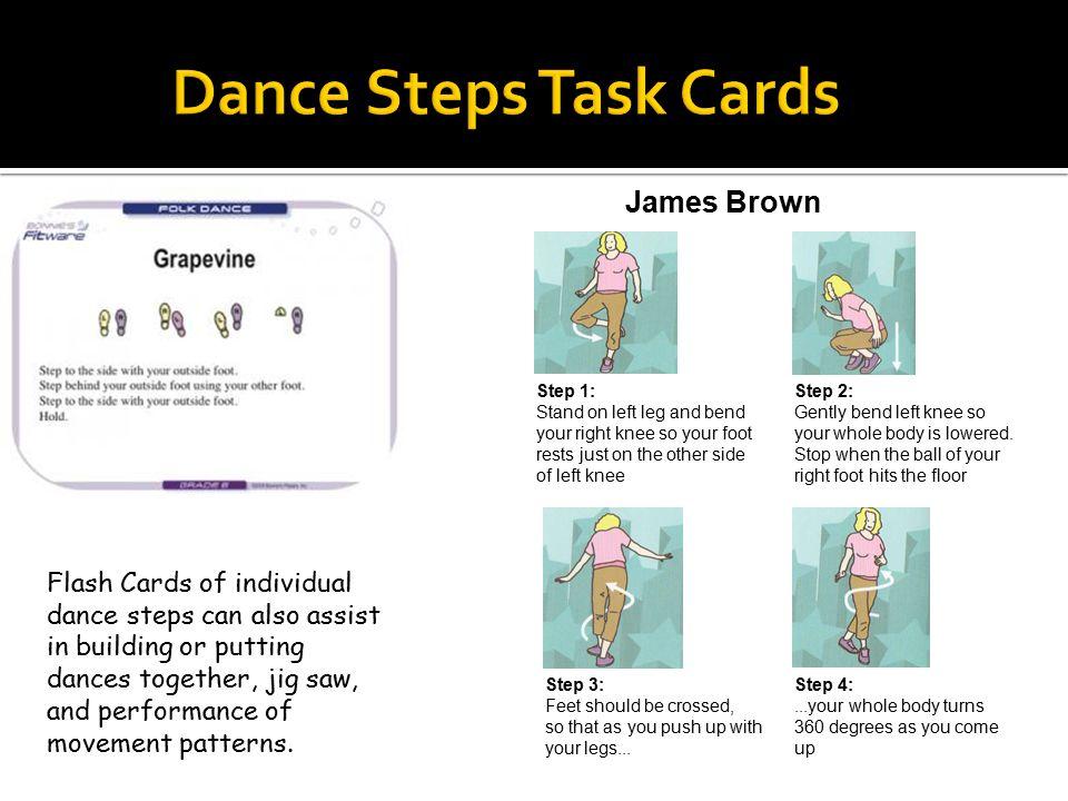 Dance Steps Task Cards James Brown