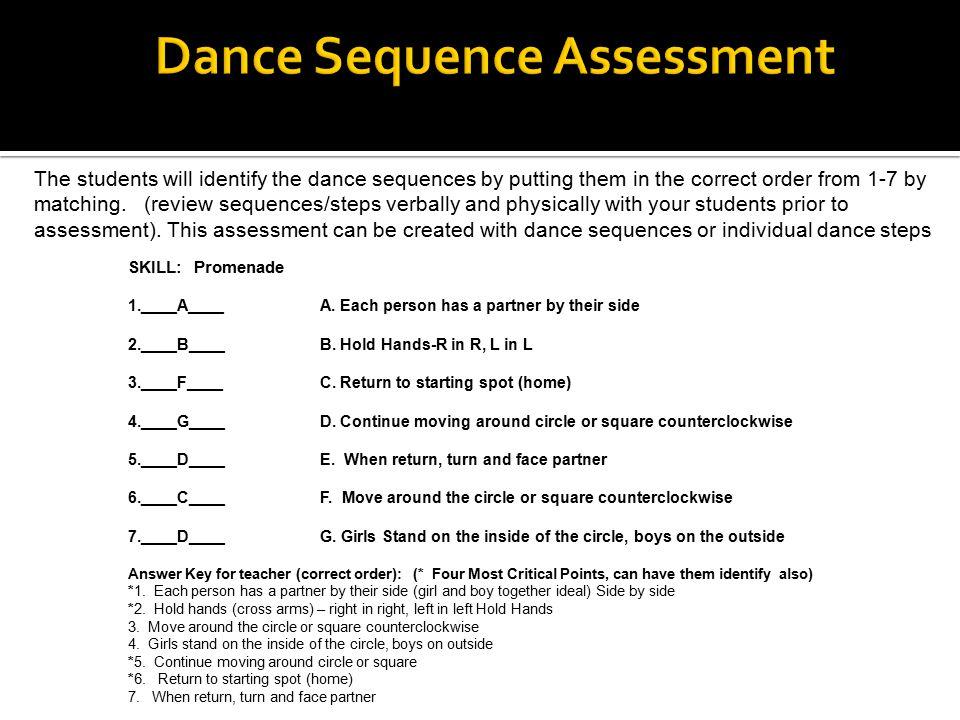 Dance Sequence Assessment