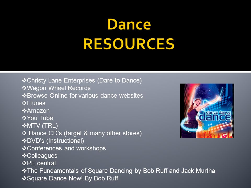 Dance RESOURCES Christy Lane Enterprises (Dare to Dance)