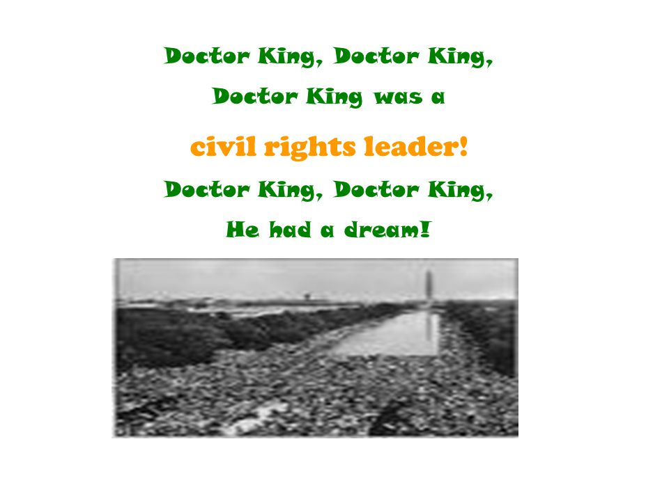Doctor King, Doctor King,