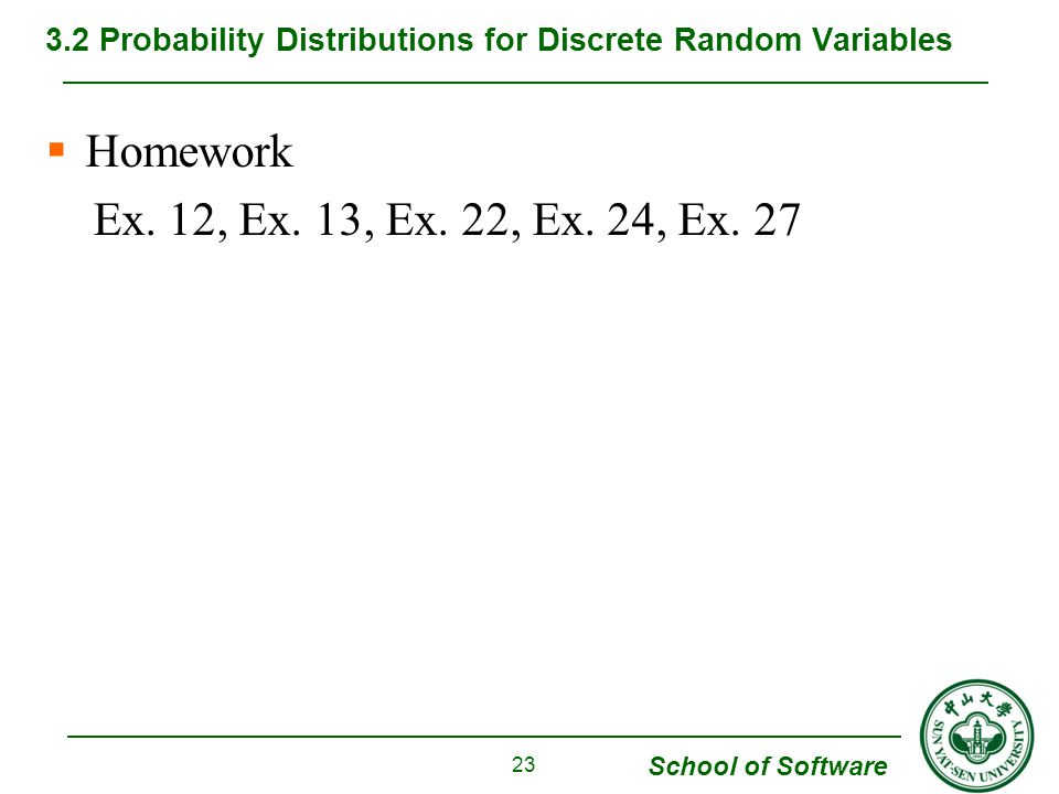 3.2 Probability Distributions for Discrete Random Variables