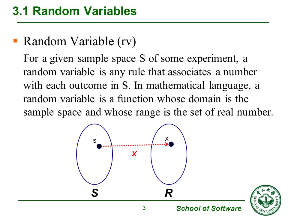 Random Variable (rv) 3.1 Random Variables