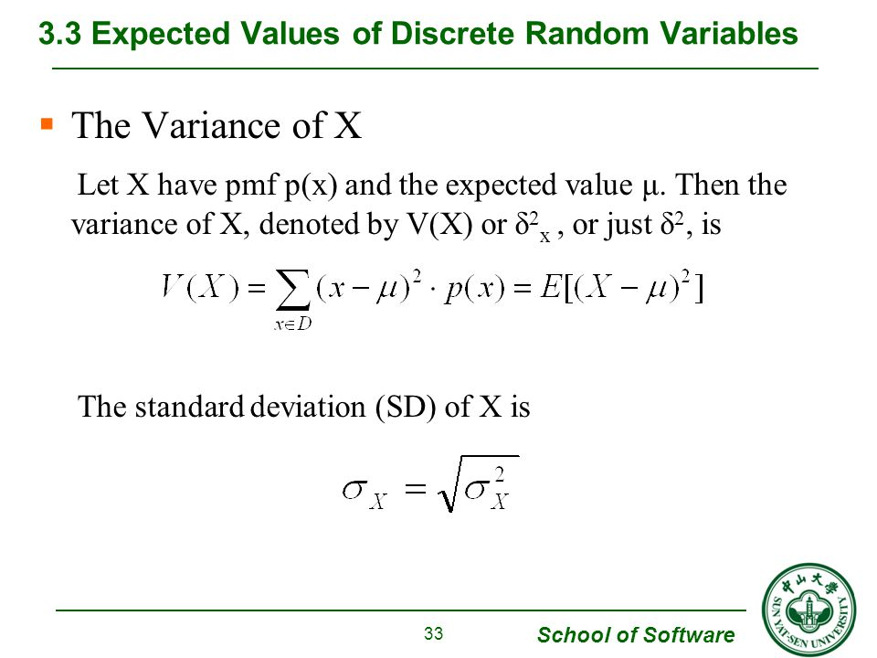 3.3 Expected Values of Discrete Random Variables