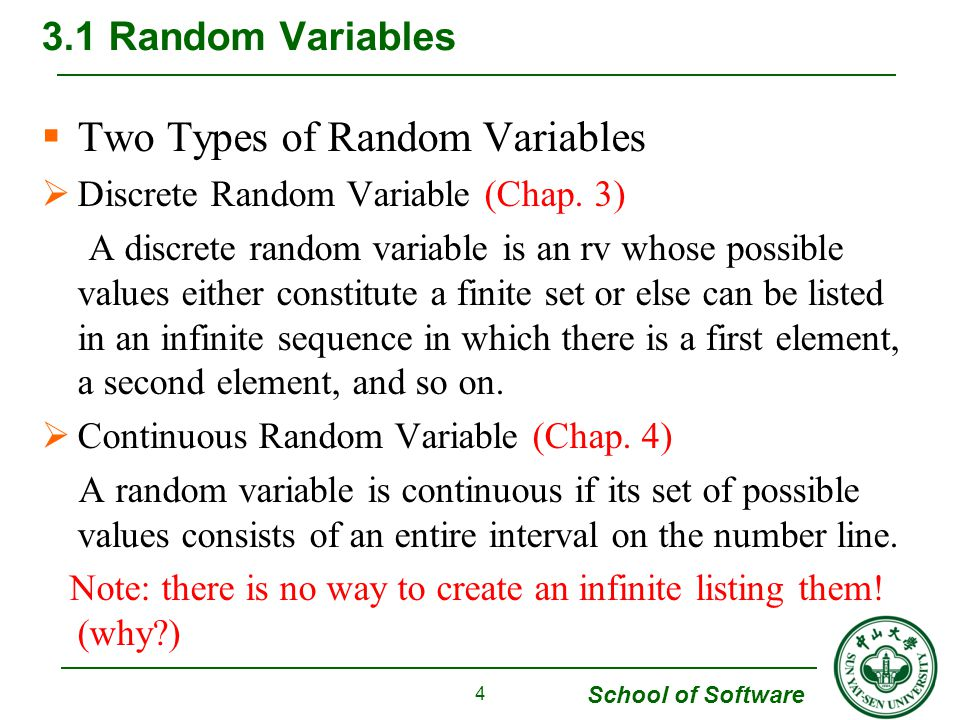 Two Types of Random Variables