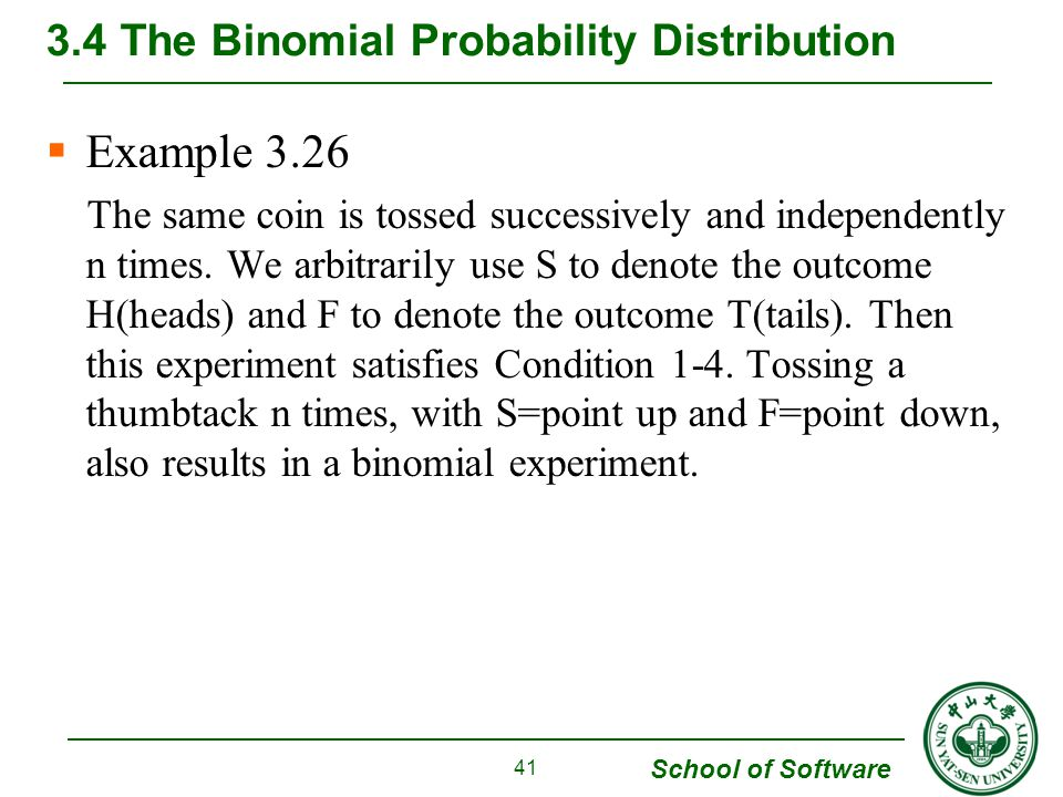 3.4 The Binomial Probability Distribution