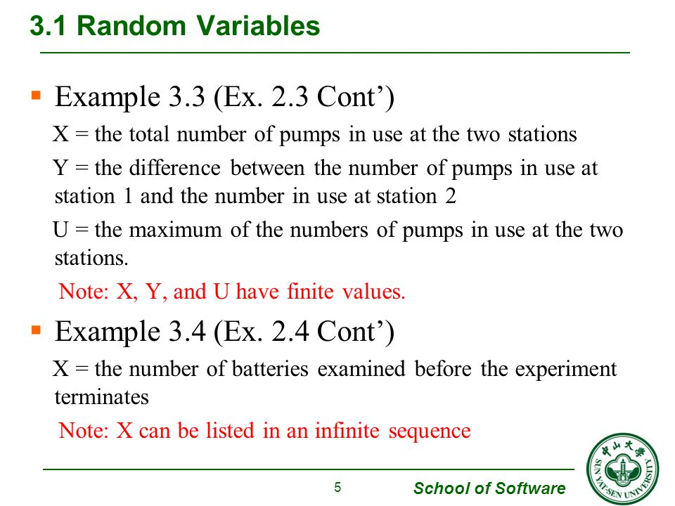 Example 3.3 (Ex. 2.3 Cont') Example 3.4 (Ex. 2.4 Cont')