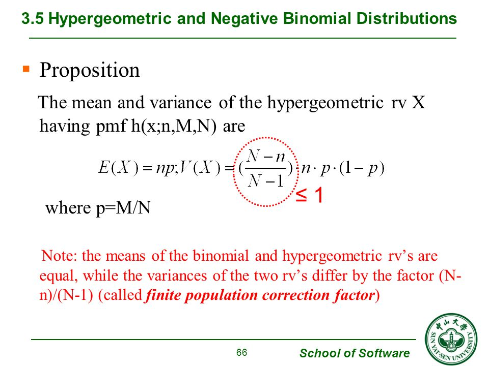 3.5 Hypergeometric and Negative Binomial Distributions