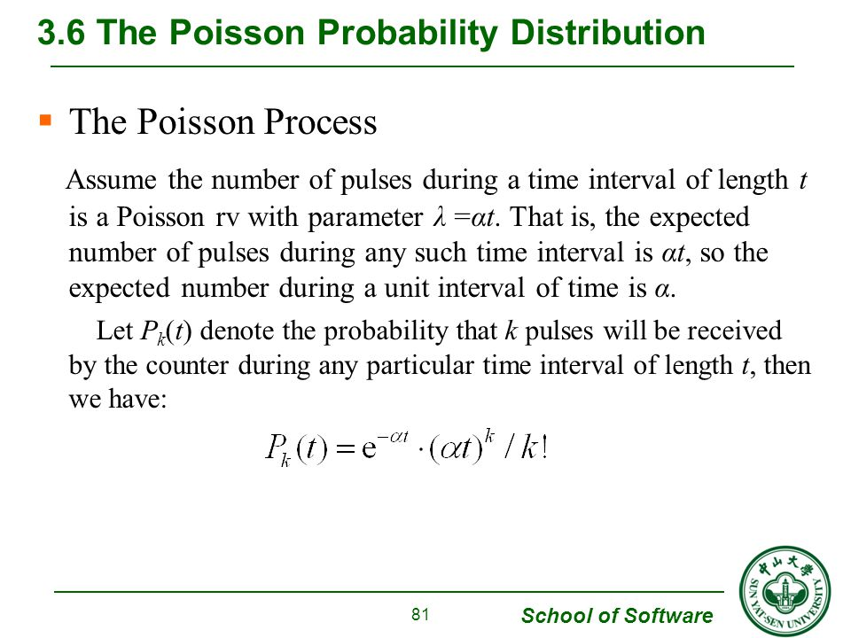 3.6 The Poisson Probability Distribution