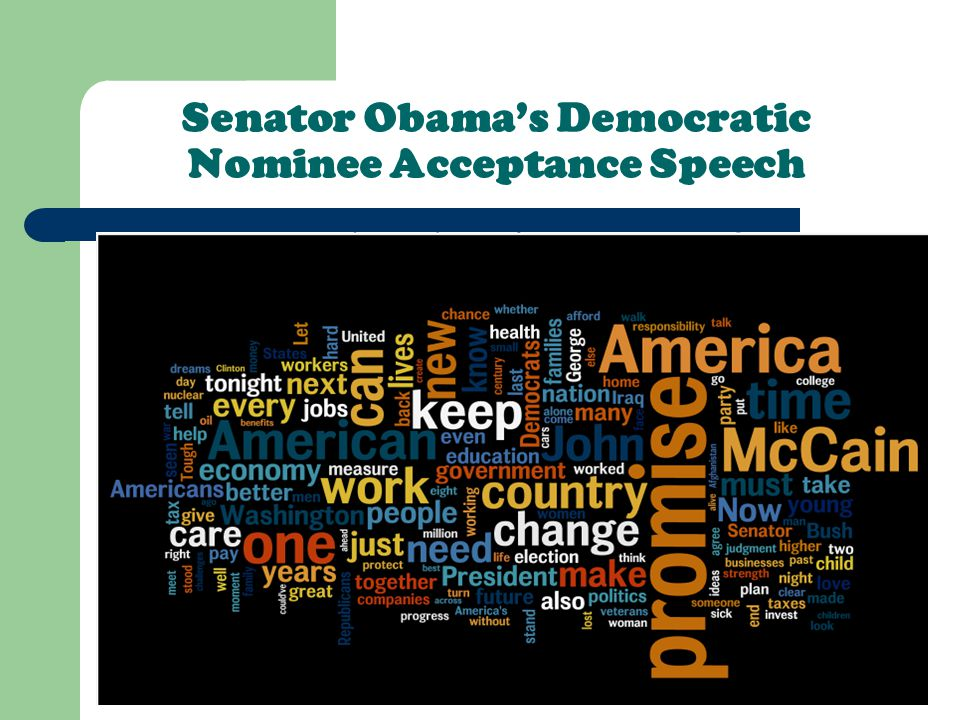 Senator Obama's Democratic Nominee Acceptance Speech