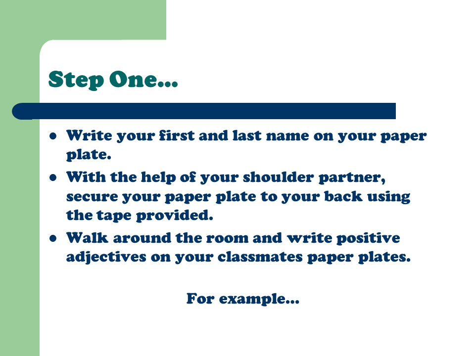 Online paper write your name
