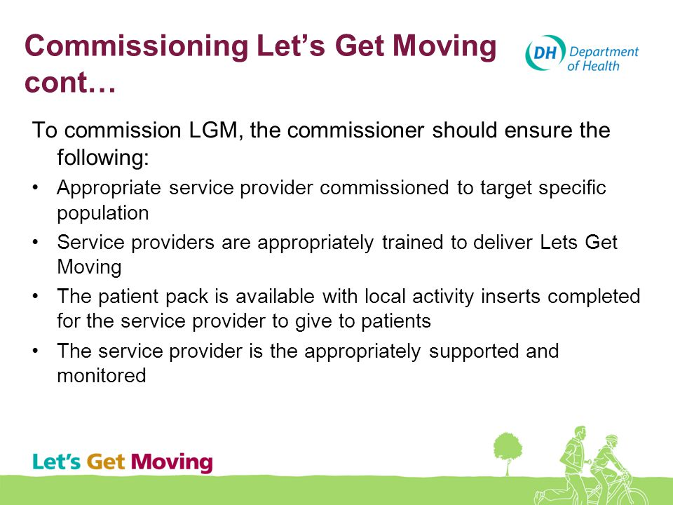 Commissioning Let's Get Moving cont…