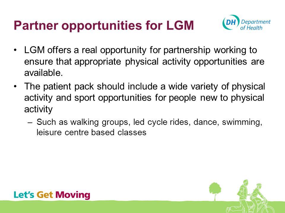 Partner opportunities for LGM
