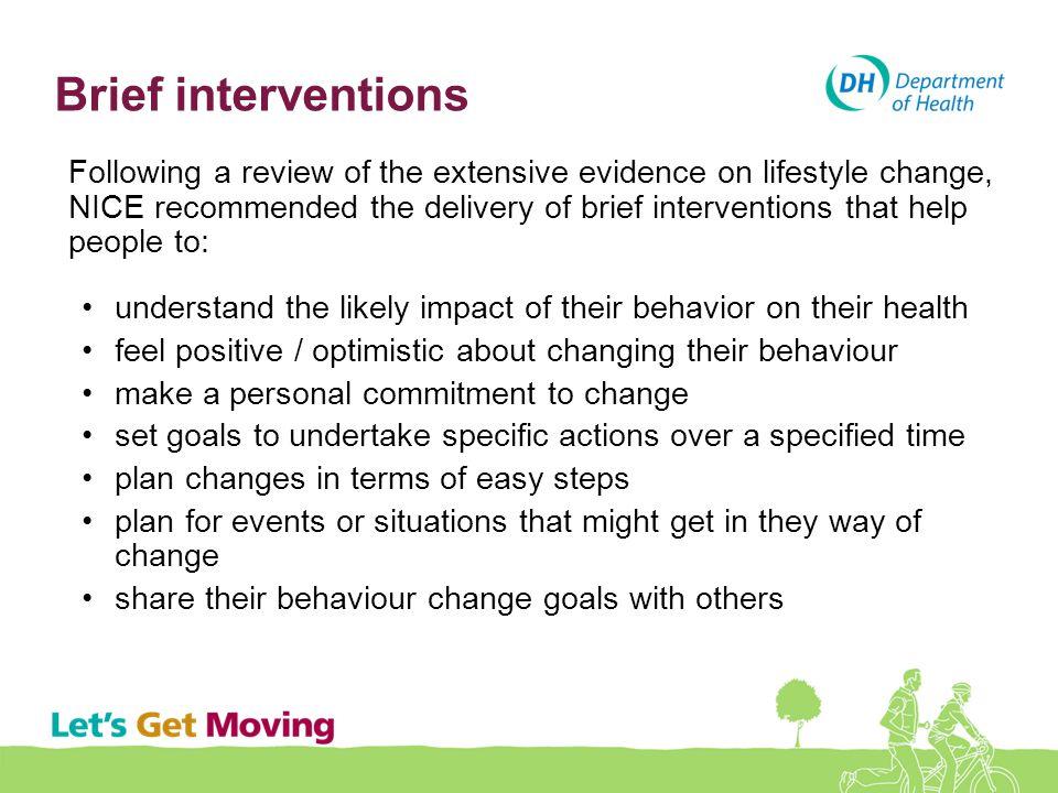 Brief interventions
