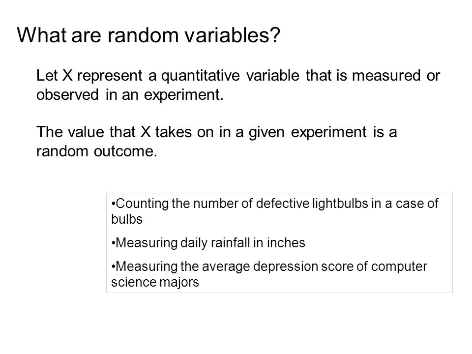 What are random variables