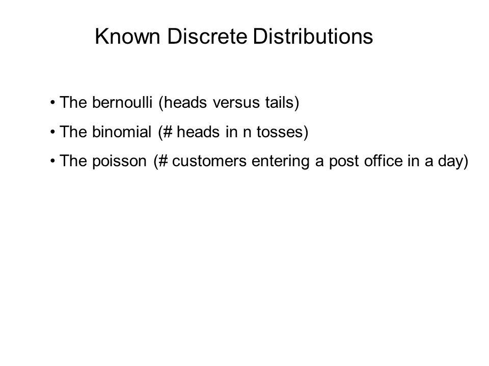 Known Discrete Distributions