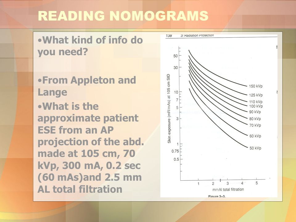 READING NOMOGRAMS What kind of info do you need